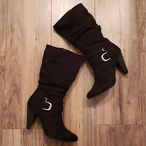 💰Apt. 9 Faux Suede Mid Calf Boots